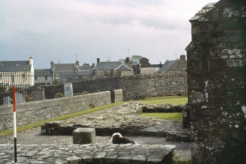 Colour slide showing view of possible site of Candida Casa, Whithorn Priory NMRS Survey of Private Collection Digital Image only