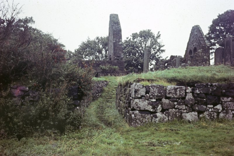 Colour slide showing view of St Blane's Chapel Bute NMRS Survey of Private Collection Digital Image only