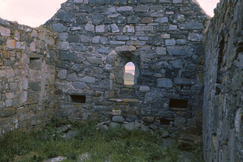 Colour slide showing view of east end interior, Keills Church North Knapdale,  NMRS Survey of Private Collection Digital Image only