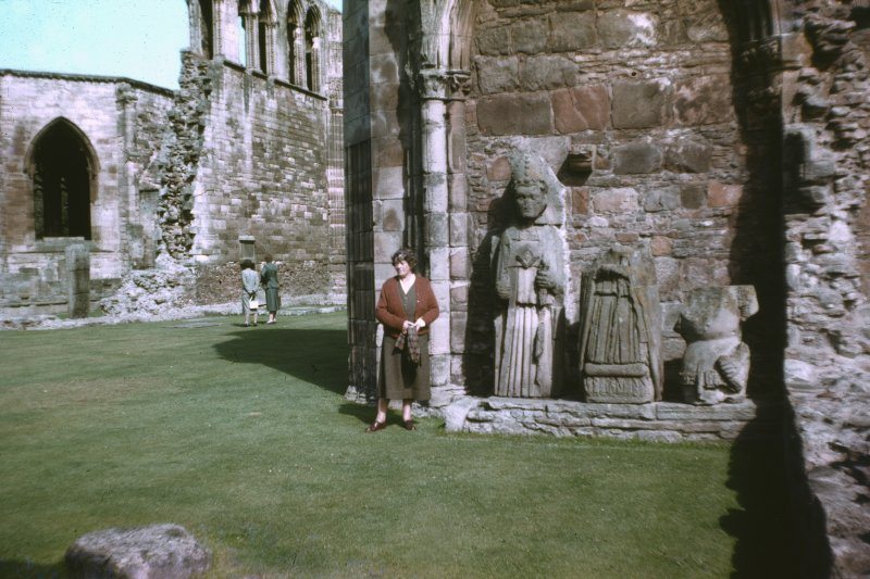 "Colour slide showing detail of Dornoch Cathedral and ""effigies"",  NMRS Survey of Private Collection Digital Image only"