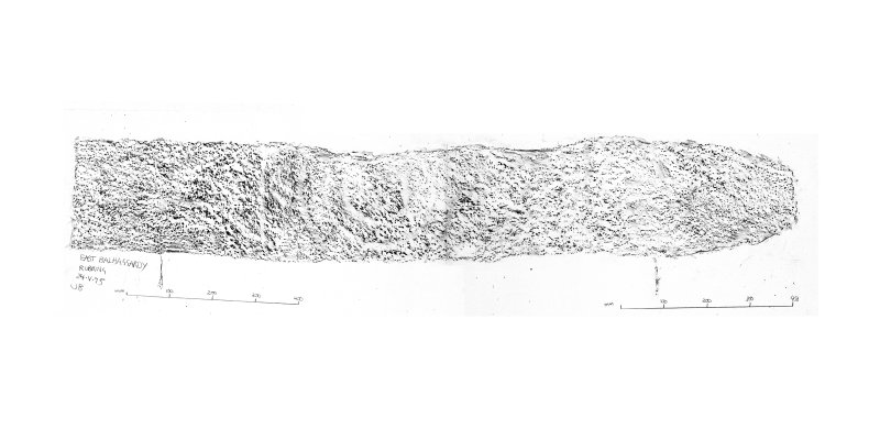 East Balhalgardy, composite digital image of rubbing of pictish symbol stone.
