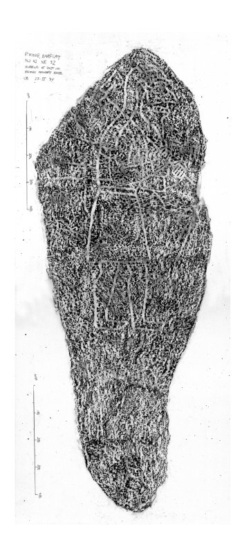 Rhynie, Barflat, composite digital image of rubbing of a Pictish symbol stone.