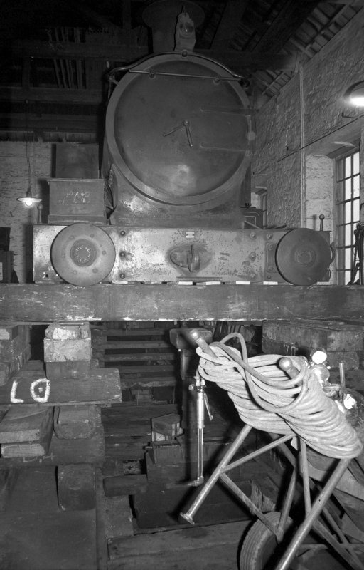 Interior View of NCB workshops showing locomotive