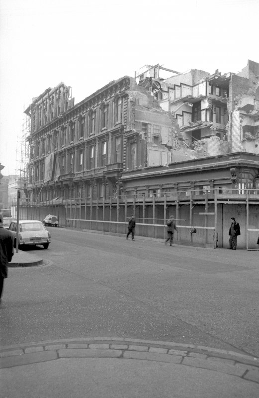 View from SE showing demolition of British Linen Bank and number 224 Ingram Street