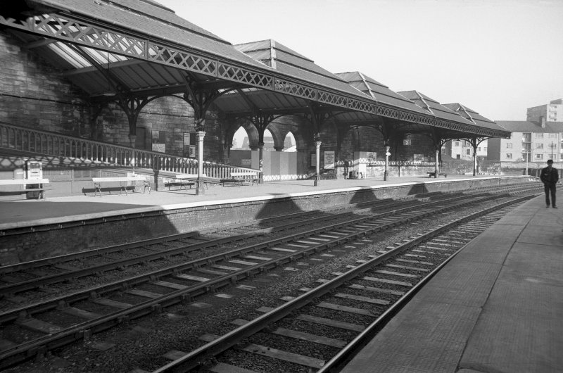 View from SSW showing part of awning on platform 2
