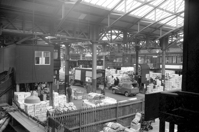 Interior view showing new part, City Hall and Bazaar, Candleriggs, Glasgow