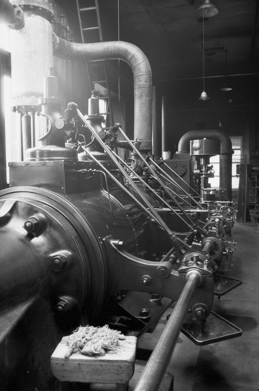 Interior View showing valve gear of Douglas and Grant Tandem Compound Engine