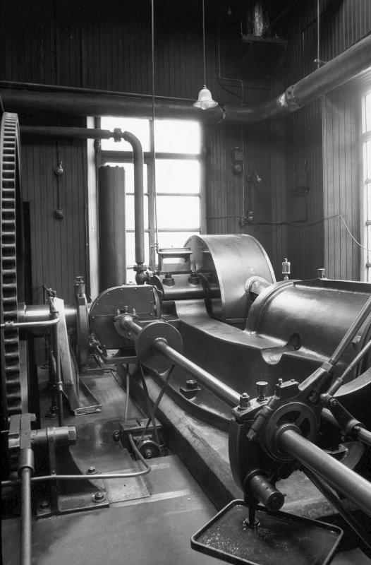 Interior View showing valve drive shaft of Douglas and Grant Tandem Compound Engine