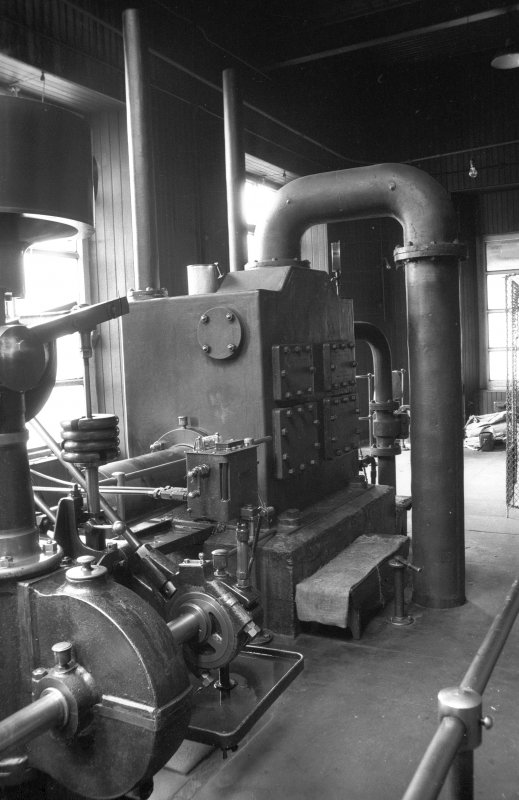 Interior View showing condenser and airpump of Douglas and Grant Tandem Compound Engine