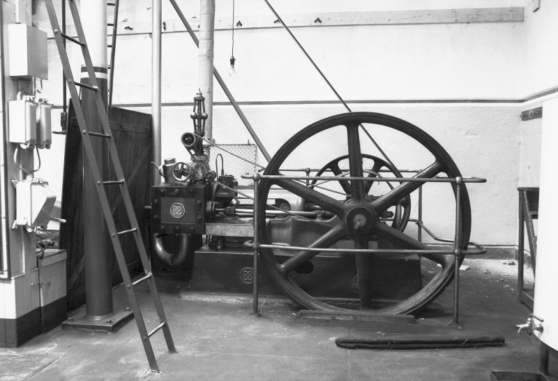 Interior View showing single cylinder slide valve engine