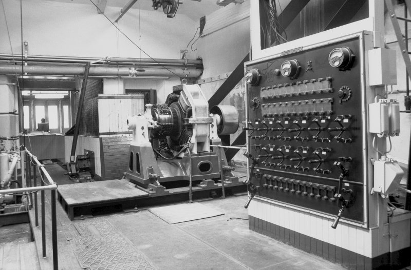 Interior View showing dynamo and switchboard