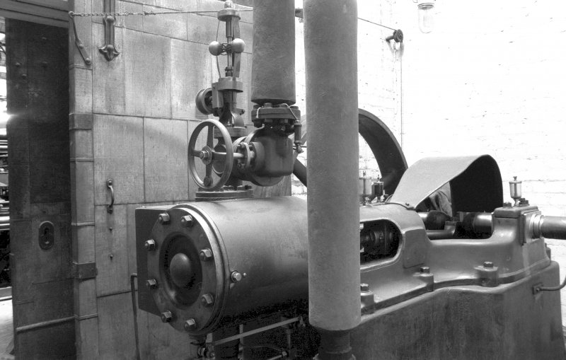Interior View showing small Marshall single-cylinder engine