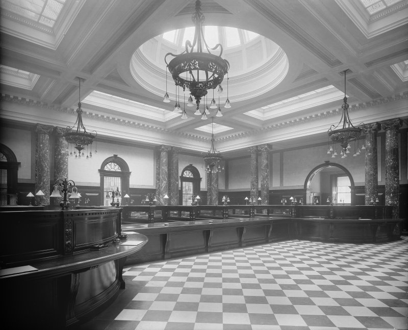 Interior - view of banking hall.