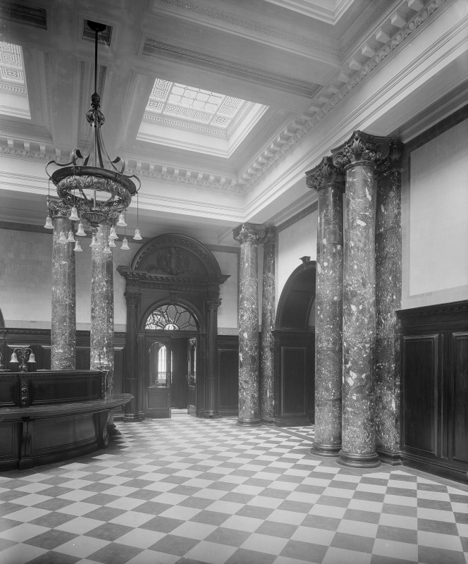Interior. General view of banking hall.