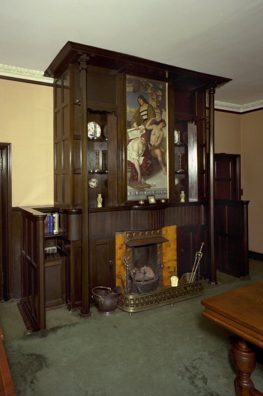 General view of dining room fireplace. Digital image of AY 3818 CN.