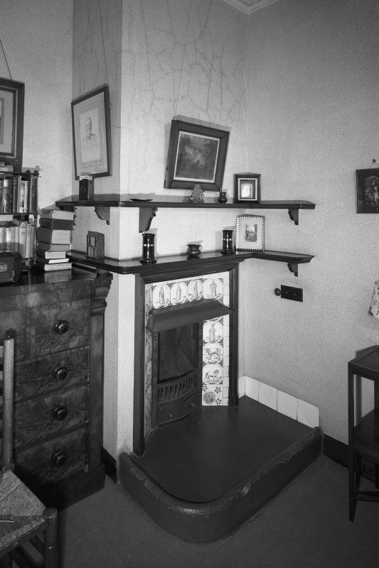 Detail of fireplace in central suite dressing room. Digital image of AY 3845.