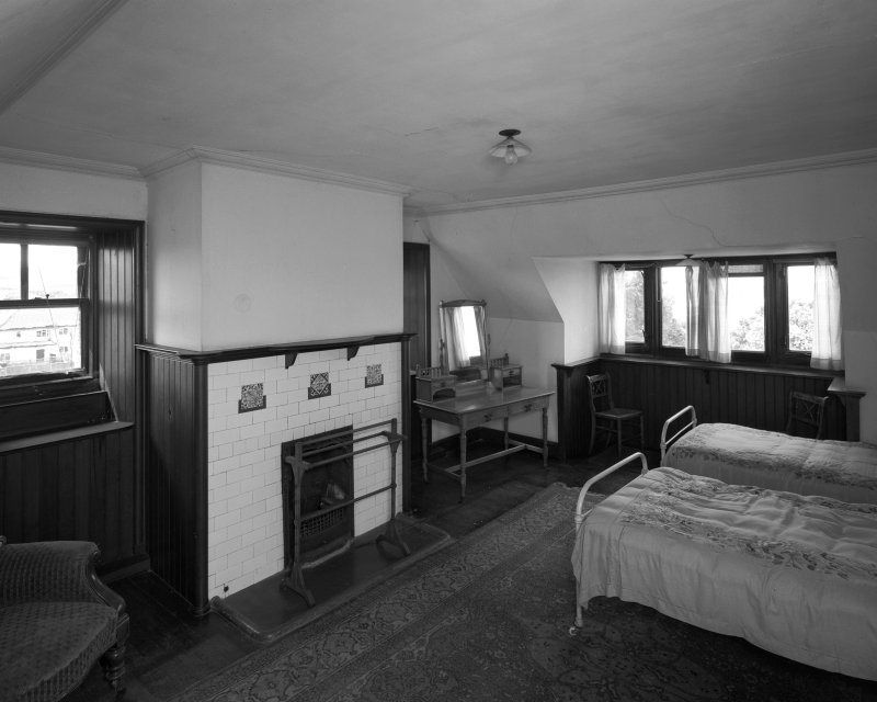 General view from East of West corner apartment in the attics. Digital image of AY 3858.
