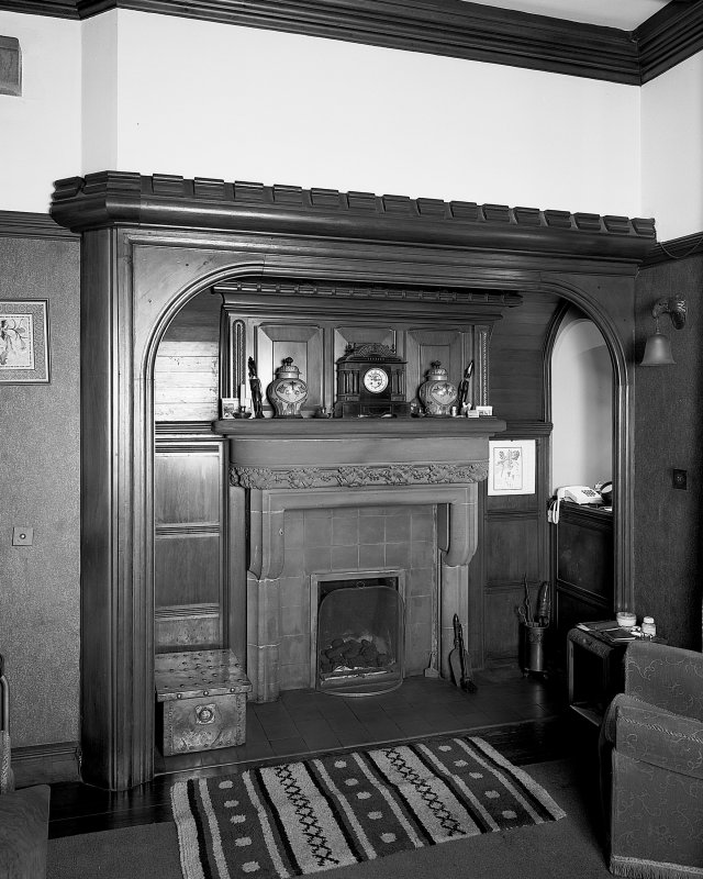 Detail of chimneypiece in ground floor drawing room. Digital image of B 57258.
