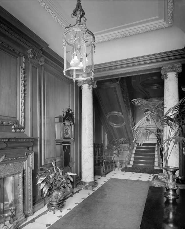 Interior - view of entrance foyer and staircase