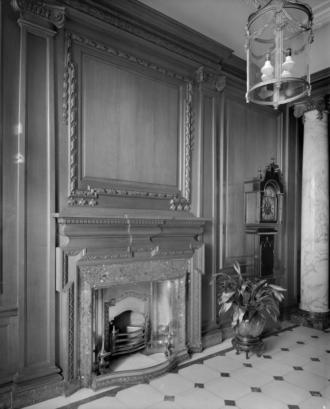Interior - view of fireplace in entrance foyer