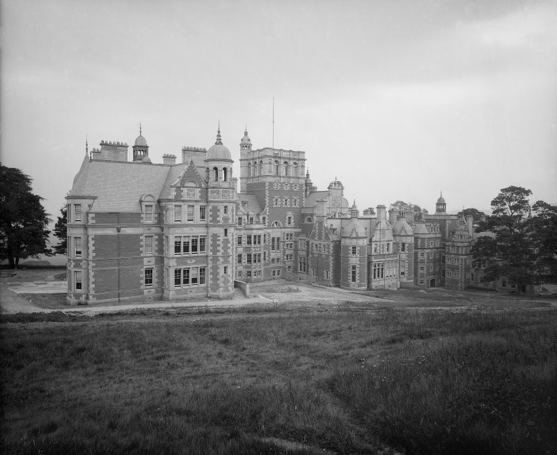 View of rear facade of Craighouse Asylum, Edinburgh. The building is now part of Napier University.