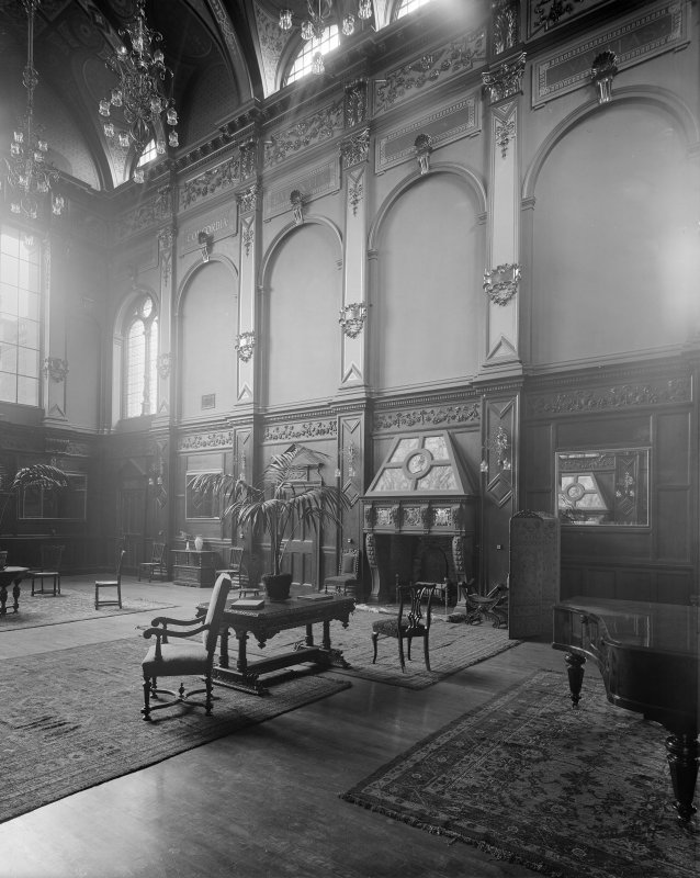 Interior-general view of Great Hall in Craig House