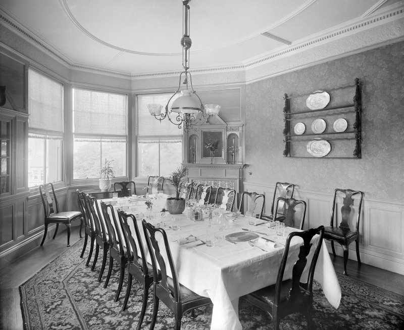 Interior-general view of Dining Room in South Craig Villa, Edinburgh