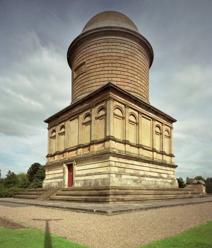 Hamilton Palace, view of mausoleum from SW.