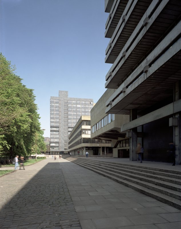 View along the South side buildings of George Square showing the 1960s redevelopment, seen from the West. Digital image of B/70883/CN.