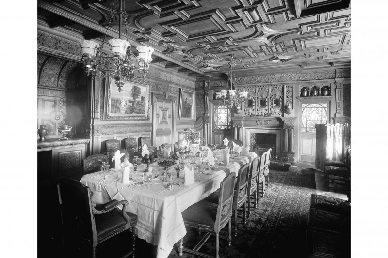 Interior-general view of Dining Room of Curling Hall, now demolished