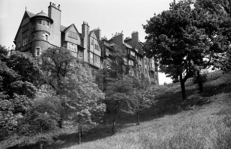 General view of Nos 10-16 from Princes Street Gardens