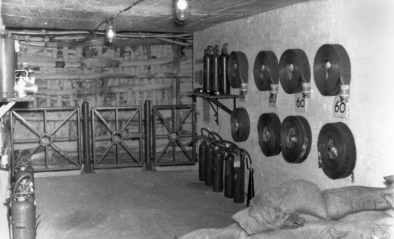 Underground, view of fire station in West Mine. No date