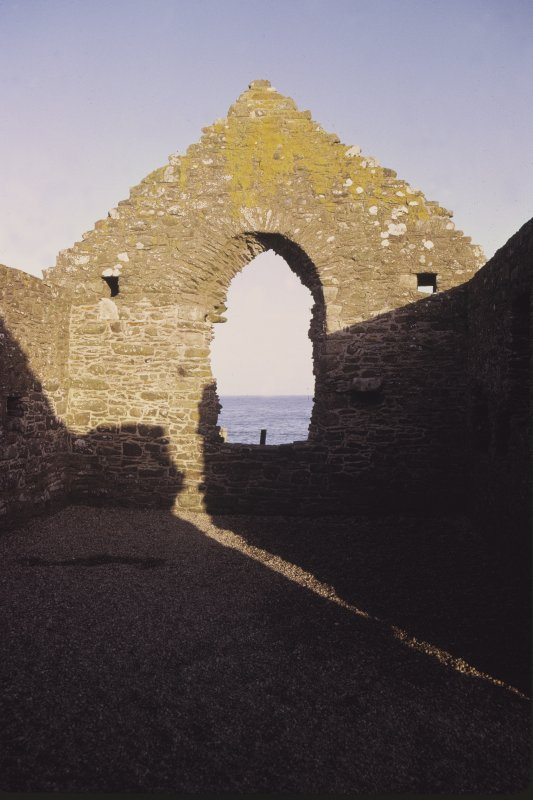 Copy of colour slide showing detail of east end interior of Whithorn Kirk, Isle of Whithorn NMRS Survey of Private Collection  Digital Image Only