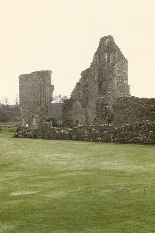 Copy of colour slide showing general view of Glenluce Abbey Church NMRS Survey of Private Collection  Digital Image Only