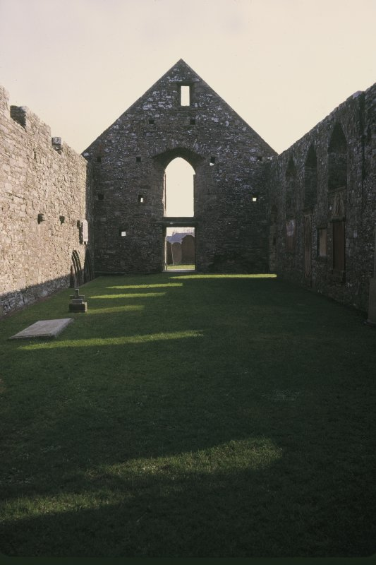 "Copy of colour slide showing detail of Whithorn Priory - Insc:"" nave - east end interior"". NMRS Survey of Private Collection  Digital Image Only"