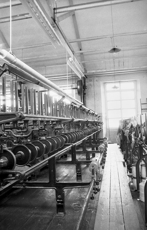 Interior View showing winding frames made by Anderston Foundry