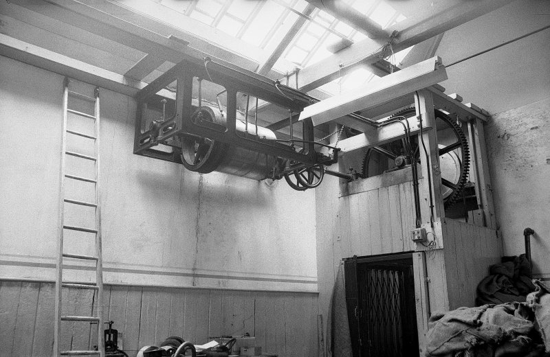 Interior View showing drive to hoist