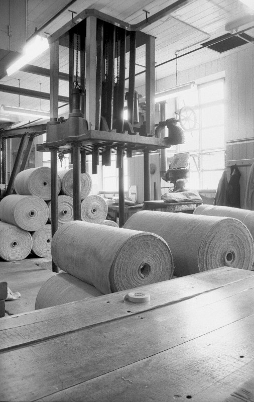 Interior View showing jute baling press