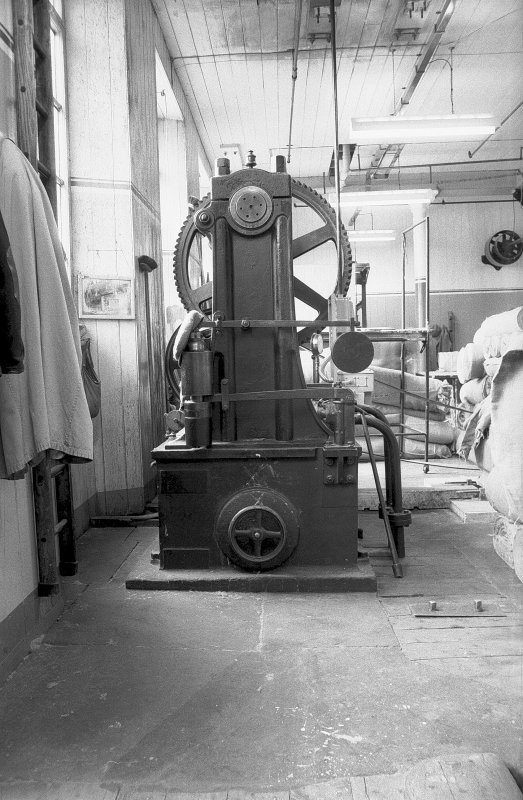 Interior View showing hydraulic pump made by Robertson, Orchar of Dundee