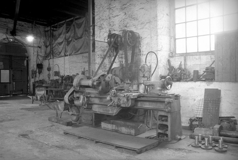 Interior View of workshops showing machine