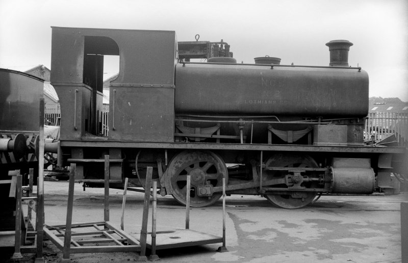View showing NCB locomotive Lothians area number 2