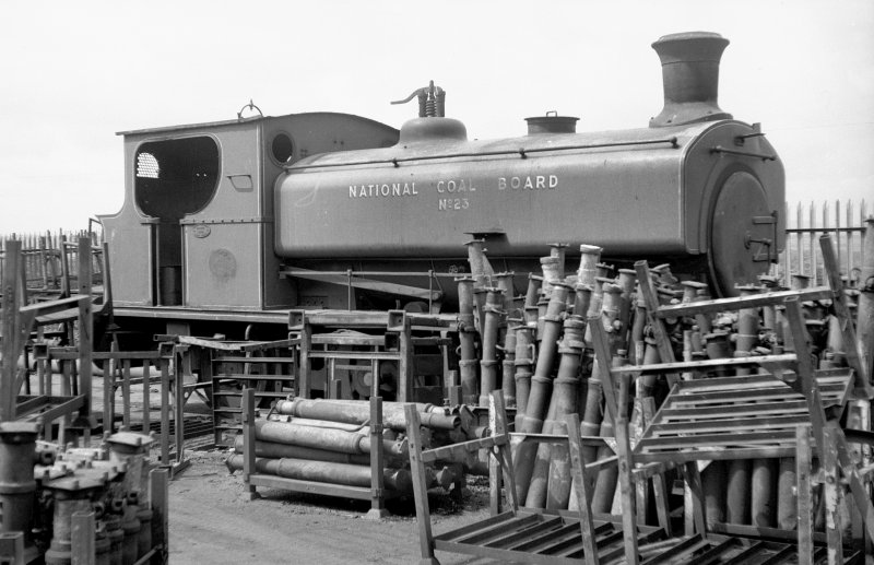 View showing NCB locomotive Lothians area number 23