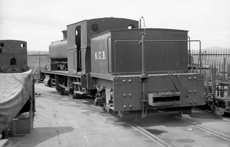 View looking W showing NCB locomotive Lothians area number 2