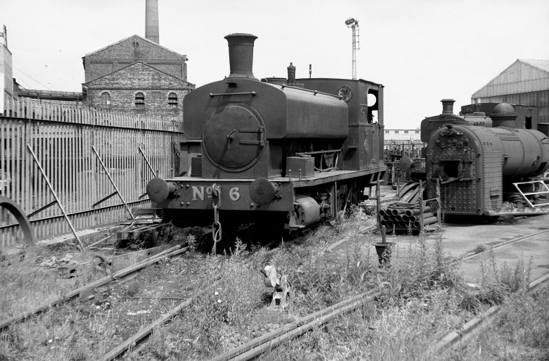 View looking N showing NCB locomotive Lothians area number 6