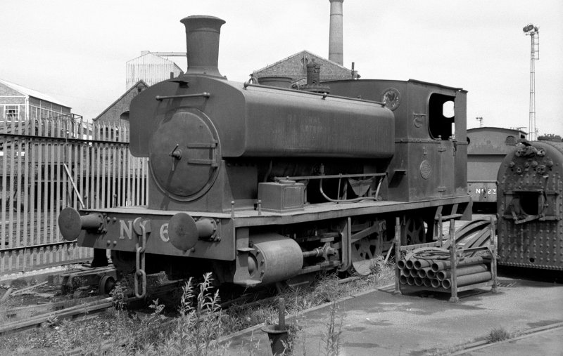 View looking NNW showing NCB locomotive Lothians area number 6