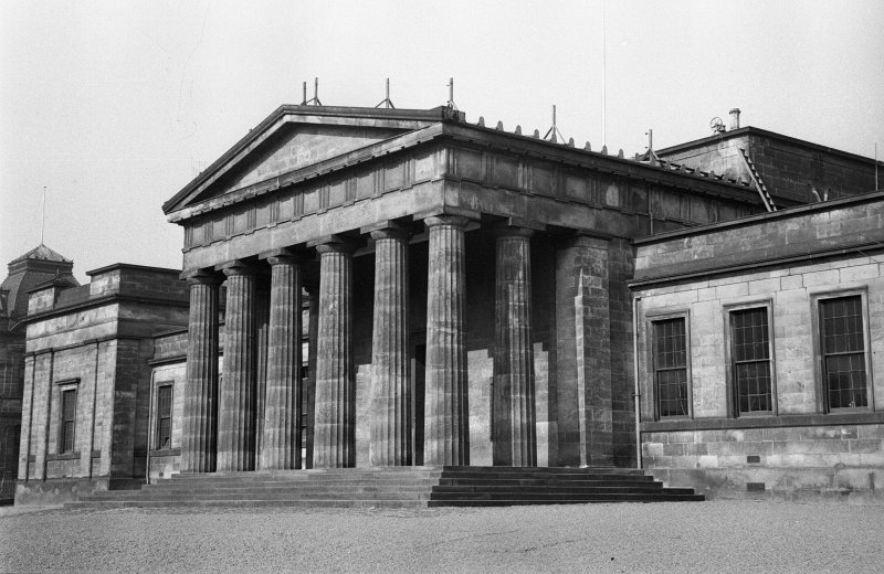 View of portico. Digital image of AN/1736/3.