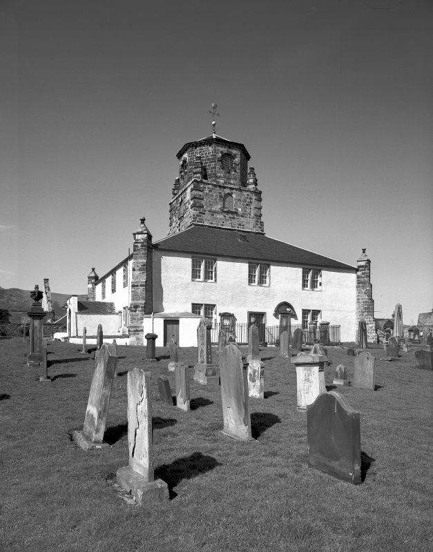 General view of Church and churchyard from south south west. Digital image of A/33080.