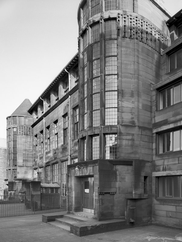 Glasgow, Scotland Street School. General view from WNW. Digital image of A/59657.