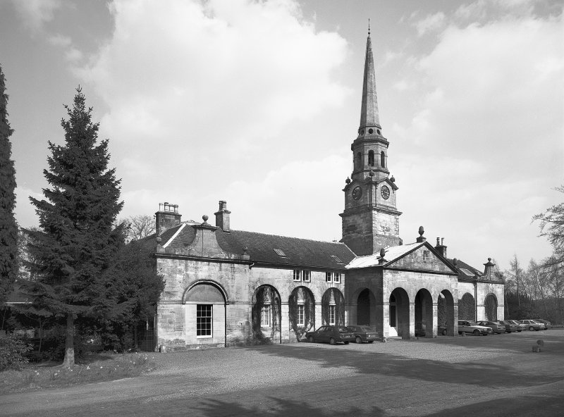 General view of the stables at Penicuik House. Digital image of B/41164.