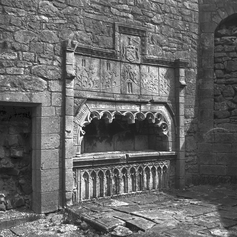 View of monument at Castle Semple, Collegiate Church. Digital image of B/42010.